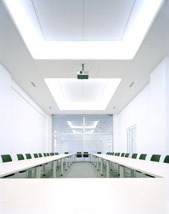 Drop Down Ceiling Lighting: Luminous suspended ceiling LIGHT COFFER Saint-Gobain Ecophon,Lighting