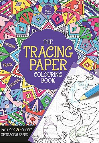 Tracing Paper Colouring Book Buster Activity Books Von Felicity French
