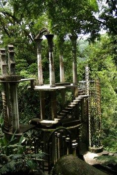 Las Pozas - Hidden in this rainforest is over 80 acres of natural pools, waterfalls & giant surrealist sculptures.. A mysterious place, open for exploration...