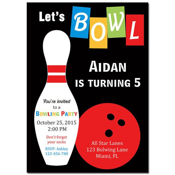 57 best Bowling Party images on Pinterest Invitation, Pictures - bowling invitation