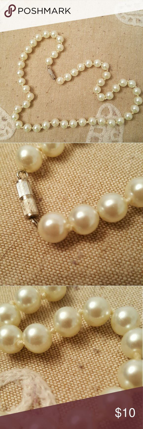 BDAY BOGO SALE! Pearl strand necklace Faux pearls (I think they are faux). 18 inches long strand. Brand new without tags.Its my birthday this weekend so let's have a sale! Buy one piece of jewelry and get a 2nd for just $1! Just add to a bundle and make offer. Jewelry Necklaces