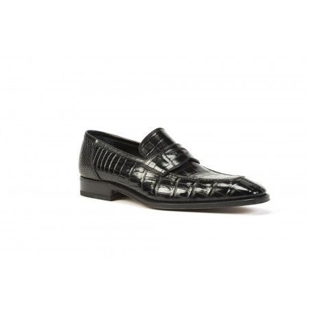 Classic crocodile #leather #moccasin by DAMI www.tuscanleatherdistrict.it