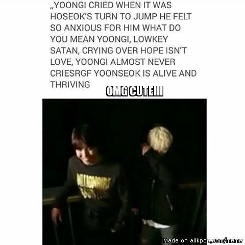 BTS- Hoseok and Yoongi: I feel for Yoongi, I would cry for Hobi. Me and Yoongi loves Hobi!!!