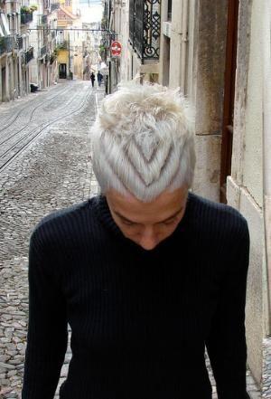 Haircut short silver hair by tira18