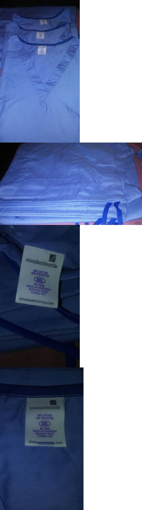 Sets 105432: Standard Textile Unisex V Neck Reversable Medical Nursing Scrubs Sz 3X -> BUY IT NOW ONLY: $80 on eBay!