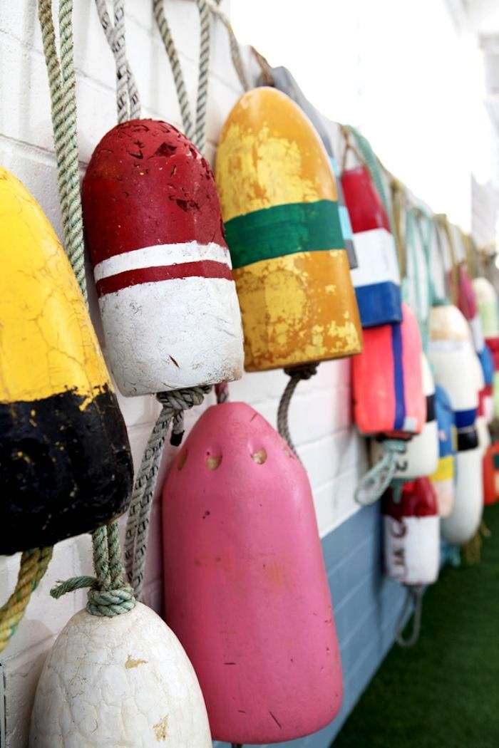 Colorful Bouys at Watson's Beach Club, Remodelista