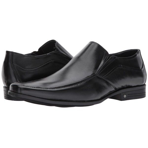 Massimo Matteo Moc Toe Slip-On (Black) Men's Slip-on Dress Shoes ($89) ❤ liked on Polyvore featuring men's fashion, men's shoes, men's dress shoes, mens slip on loafers, mens black slip on shoes, mens dress shoes loafers, mens black dress shoes and mens dress loafers