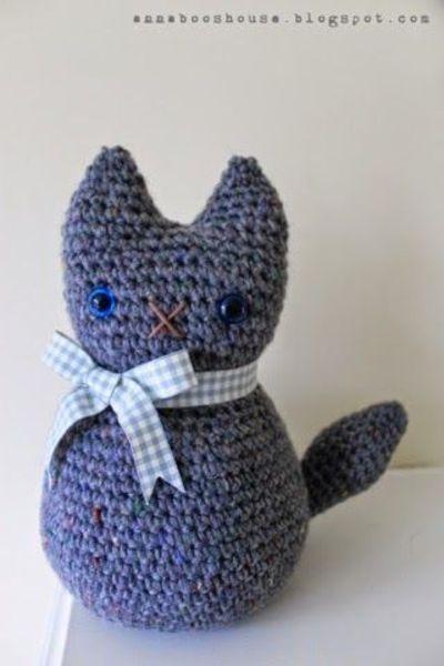 Free Crochet Cat Doorstop Patterns : Meer dan 1000 idee?n over Kat Patroon op Pinterest ...