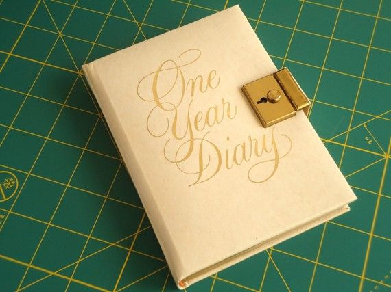 Vintage Diary with lock and key by elizabest on Etsy