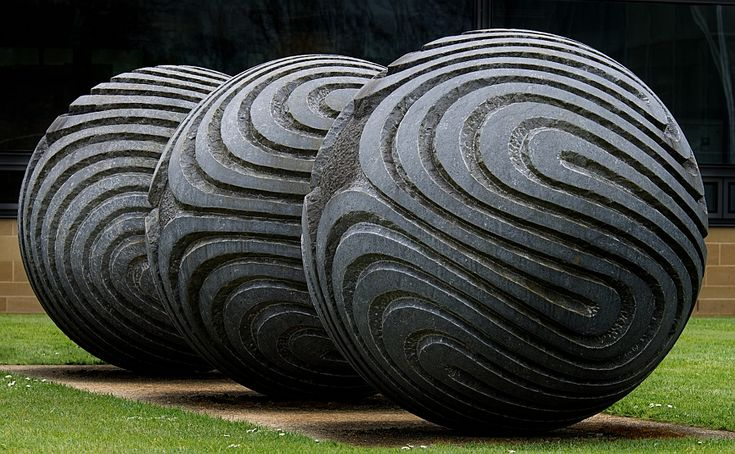 'Inner Compulsion' by Peter Randall-Page. Full of energy and movement.