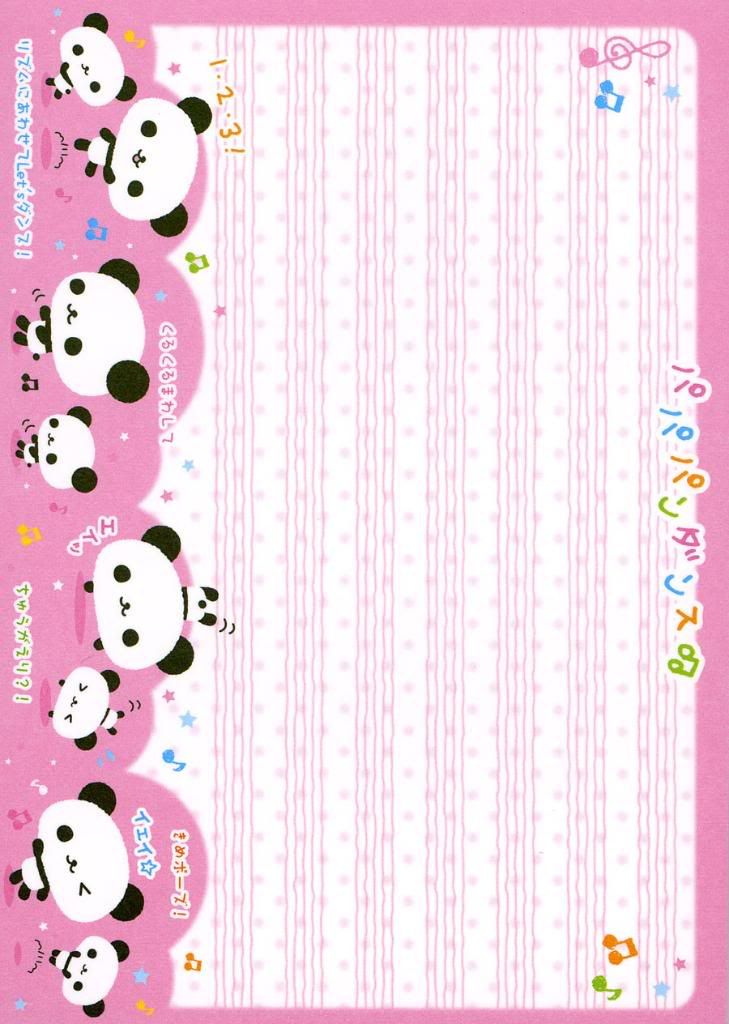 Stationary Notepaper Kawaii Note Paper Stationery