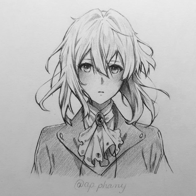 A Fanart By Me Violetevergarden Violet Evergarden Anime Anime Drawings Anime Character Drawing