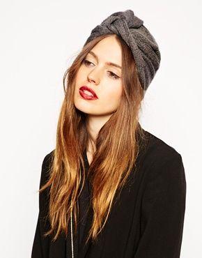 ASOS Fine Rib Knitted Turban Hat