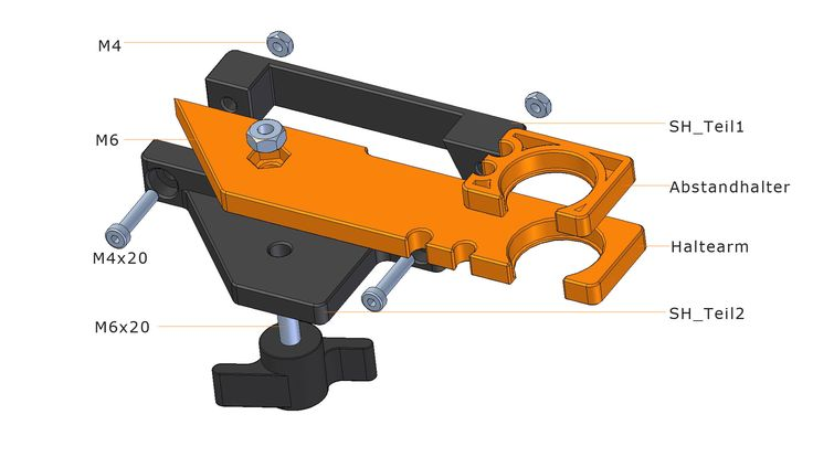 hose holder for the stepcraft 2 CNC milling machine. Please download the STL-Files from http://3d-pro.eu/schlauchhalterung-fuer-stepcraft-2/