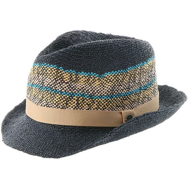 Roxy Women's Sentimento Hat Blue Hats (€21) ❤ liked on Polyvore featuring accessories, hats, blue, blue fedora hat, summer hats, fedora beach hat, summer fedora and fedora hat