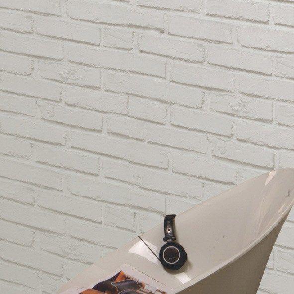 papier peint brique loft blanc leroy merlin d co murs et sols pinterest loft merlin. Black Bedroom Furniture Sets. Home Design Ideas