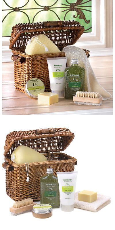 Bath Sets and Kits: Olive Oil Avocado Lemon Healing Spa Bath Kit Shower Set Womens Gift Basket -> BUY IT NOW ONLY: $33.47 on eBay!