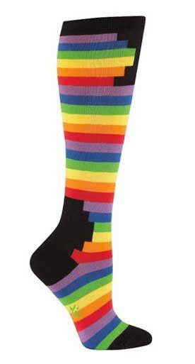 Rainbow Knee High Socks from The Sock Drawer