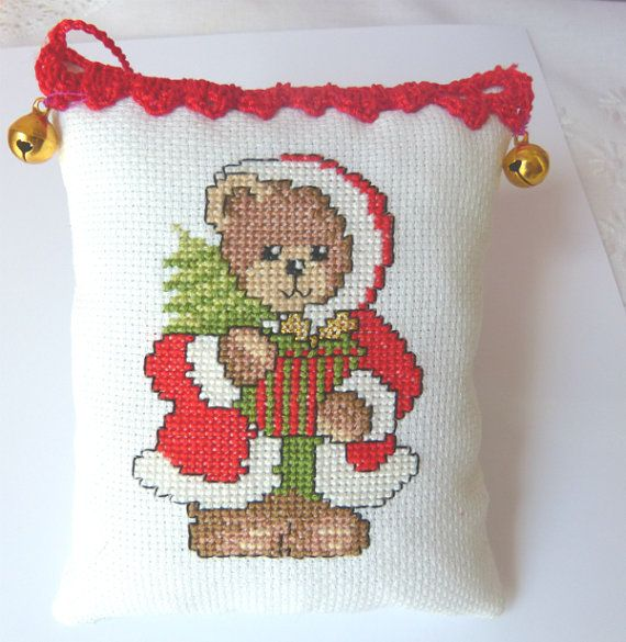 Tree Christmas Decoration Ornaments by CrossStitchElizabeth