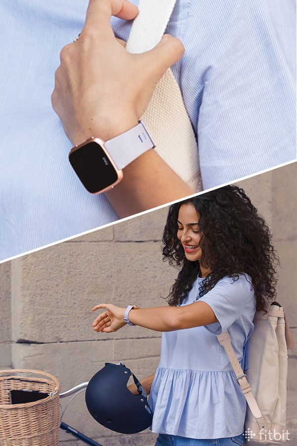 Paired With This Accessory Band In Periwinkle Fitbit Versa Is