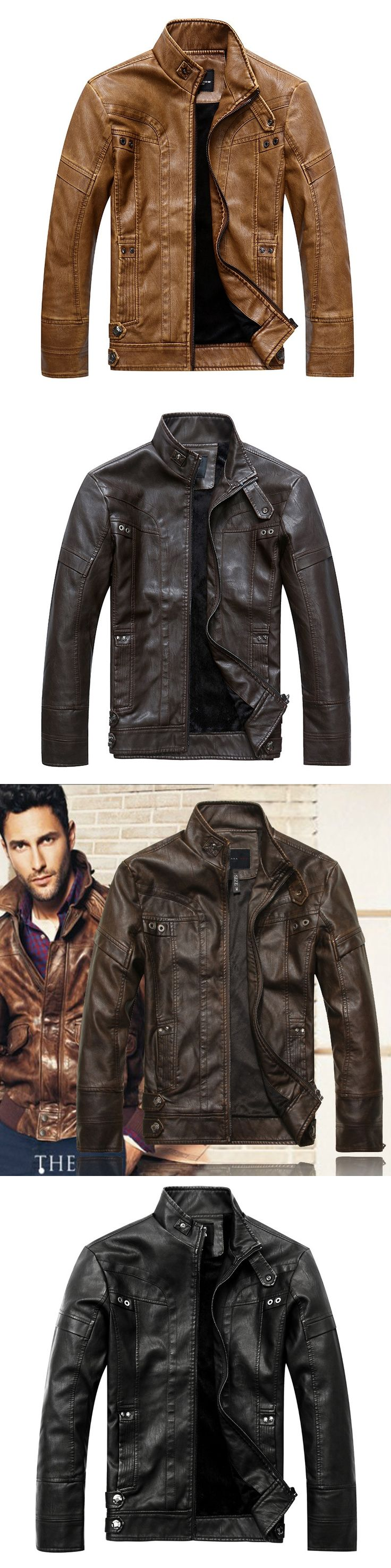 Spring Autumn Brand Male Moto Leather Jacket Men Slim Short Stand Collar Jaqueta Couro Bomber Jacket Faux Leather Fur Coat Suede