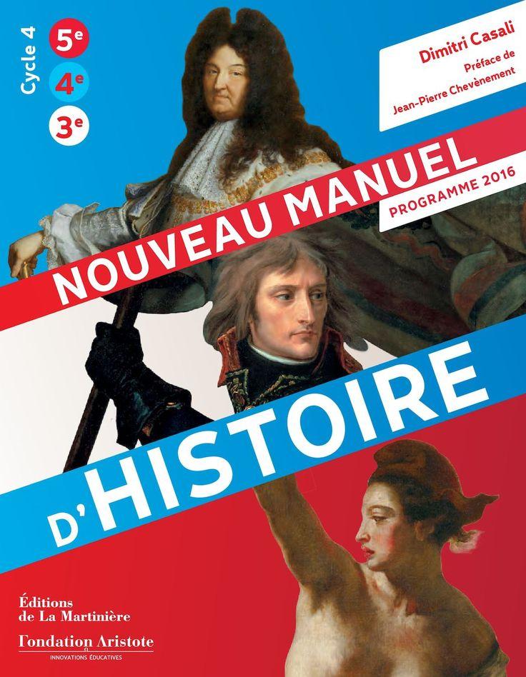 SPÉCIMEN PROGRAMME 2016 D'HISTOIRE NOUVEAU MANUEL Dimitri Casali Préface de Jean-Pierre Chevènement Cycle 4 5e 3e 4e