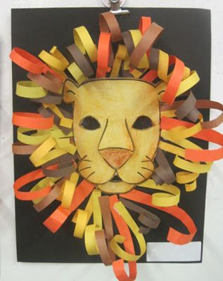 Construction Paper Lion Heads   Inspired Class