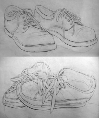 Ariel Acosta: Shoe Drawings