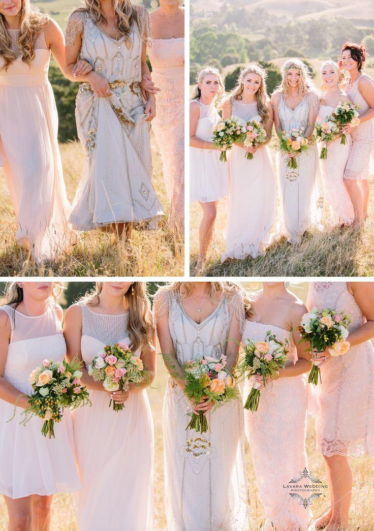 bridal party rustic photography, wedding flowers , jenny packham eden
