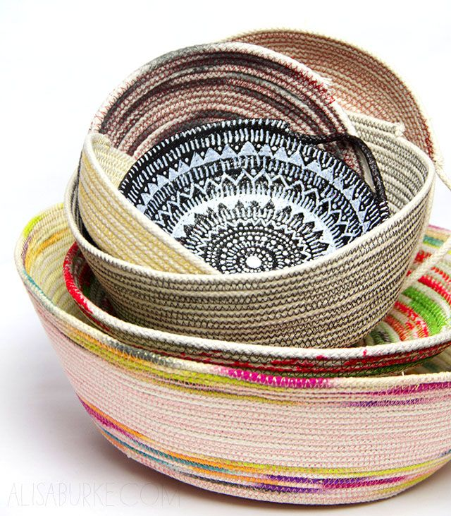 DIY: coil basket
