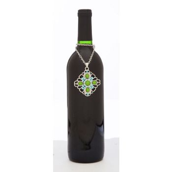 Azurlene Bottle Couture Blue and Green Wine Bottle Necklace from Cypress Home (www.myevergreenonline.com)