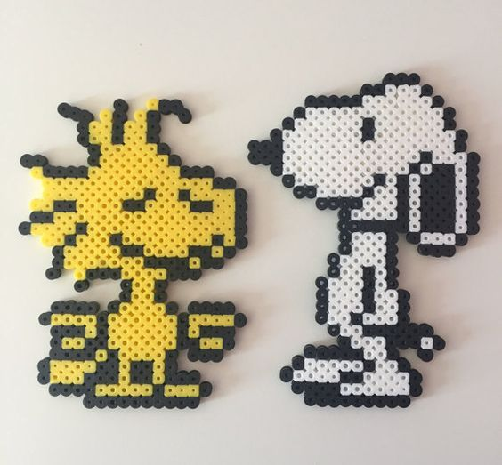 Made with high-quality perler beads, bring your love of Snoopy to life with these detailed figurines.  Snoopy: 5.5 x 4 Wookstock: 5 x 3.5  **This item is ready made and will be shipped within 1-2 business days. Feel free to ask any questions and I will do my best to answer them as quick as I can.