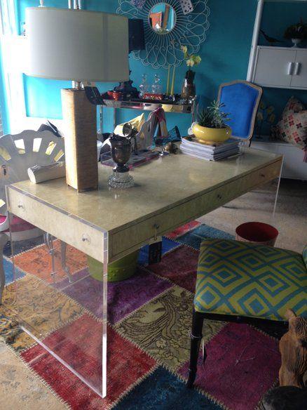 great mid century lucite desk