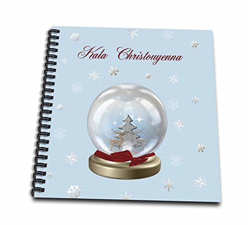 Beverly Turner Christmas Other Languages  Snow Globe Deer Tree and Snowflakes Merry Christmas in Greek  Memory Book 12 x 12 inch db_160031_2 >>> Details can be found by clicking on the image.