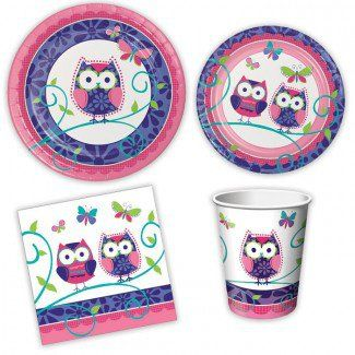 Owl Party Supplies, Owl Party Mini Party Packs, Tableware