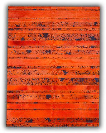 Soho Rugs | Cowhide Rugs | Acid Color Stripes Natural Cowhide Rug