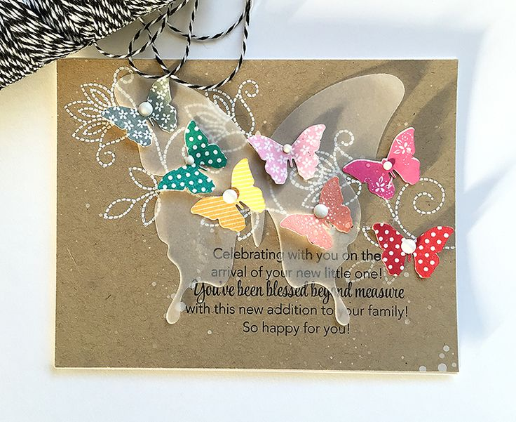 Blessed Beyond Measure Card by Danielle Flanders for Papertrey Ink (January 2016)