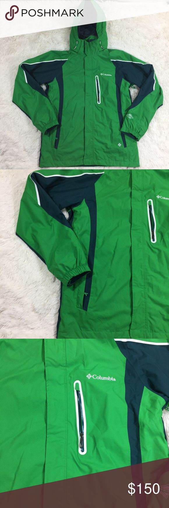 Columbia Interchange Green Heavy Double Ski Jacket Columbia Sportswear Interchange Men's Medium Green Heavy Double Ski Jacket  *Please not that this is just the outer shell of the jacket. This can still be worn as a great winter jacket *  Retails: $230.00 Type: Ski Jacket  Style: Interchange Double Ski Jacket  Features: Water Resistant, Removable Hood, Double Jacket, Omnitech Waterproof, Critically Seam Sealed, Googles Pocket, Media Pocket, Underarm Zip Vents, Breathable Technology  Brand…