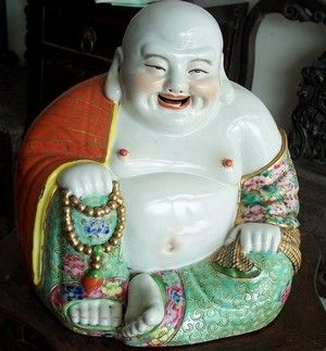 """Chinese Antique """"Laughing Buddha""""-chinese-antique-porcelain.com"""