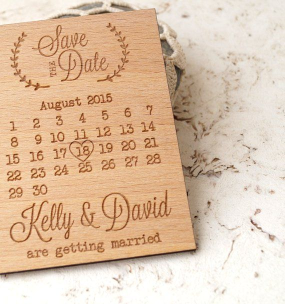 Wedding Save The Date Rustic Wooden