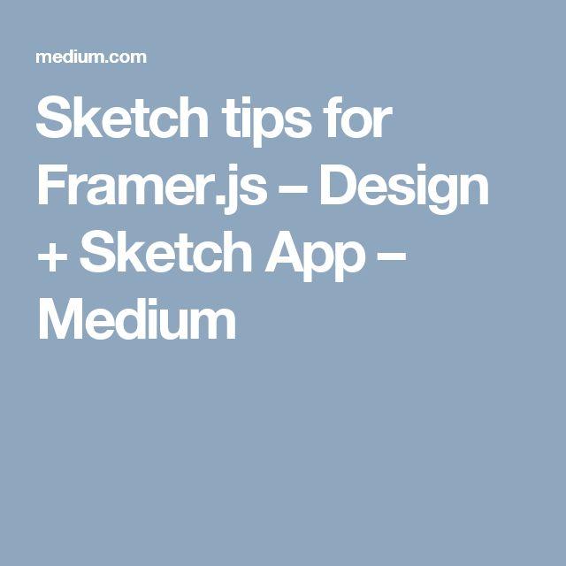 Sketch tips for Framer.js – Design + Sketch App – Medium
