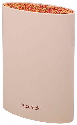 Price4All - Подставка для ножей овальная 16х6,5х22см alpenkok ak-200st - Ларес / Товары для кухни / Кухонные ножи / Подставки под ножи