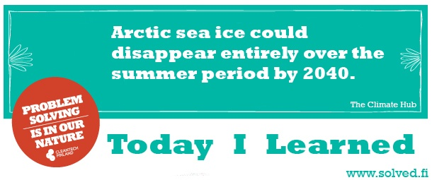 TIL: Arctic sea ice could disappear entirely over the summer period by 2040.