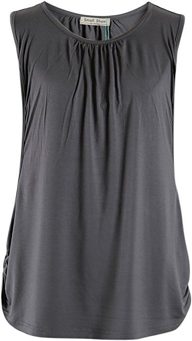 1580ab5d6a3 Smallshow Women's Maternity Nursing Tank Top Sleeveless Breastfeeding  Clothes Medium Deep Gray at Amazon Women's Clothing store: