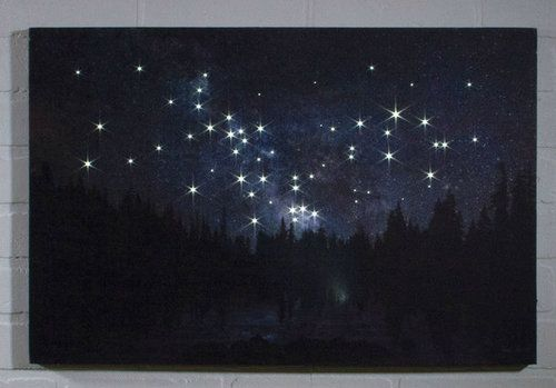 Lighted Milky Way Canvas Radiance LED Lighted Canvas from Shelley B Home and…