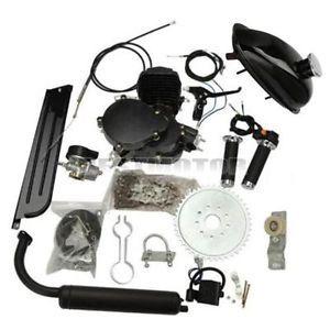 80cc-2-Stroke-Cycle-Black-Motor-Muffler-Motorized-Bicycle-Bike-Engine-Gas-Kit