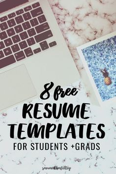 Free resume templates great for college students and recent grads and millennials