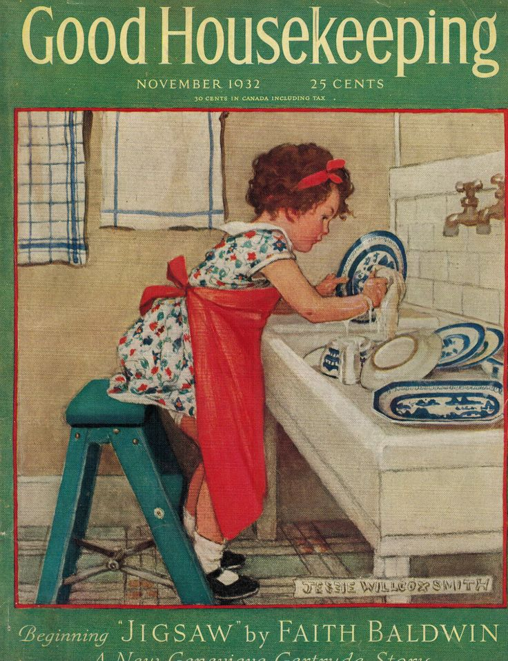 Image result for vintage french magazine covers about housekeeping