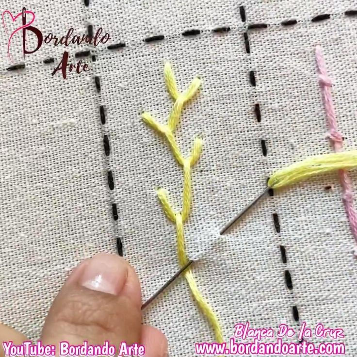 Comienza a bordar tu muestrario. Mira el tutorial paso a paso. Hand Embroidery Patterns Flowers, Hand Embroidery Videos, Embroidery Stitches Tutorial, Embroidery Flowers Pattern, Hand Embroidery Designs, Embroidery Techniques, Creative Embroidery, Simple Embroidery, Different Stitches