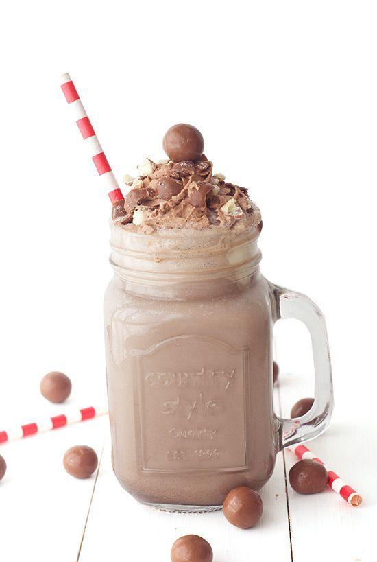 Chocolate Malt Milkshake - Love From The Oven